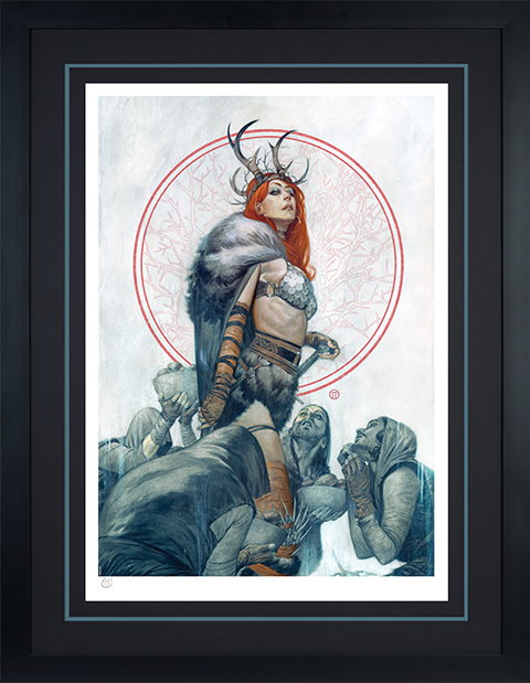 Sideshow Collectibles Red Sonja: Queen of Hyrkania Art Print