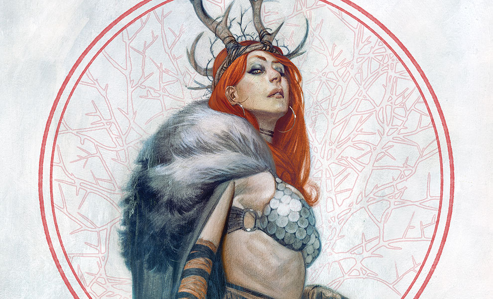 Gallery Feature Image of Red Sonja: Queen of Hyrkania Art Print - Click to open image gallery