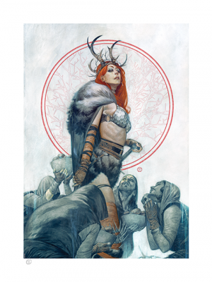 Red Sonja: Queen of Hyrkania Art Print