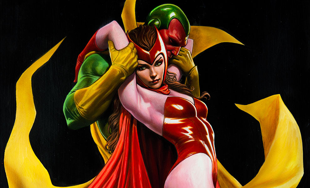 Gallery Feature Image of Scarlet Witch & Vision Art Print - Click to open image gallery