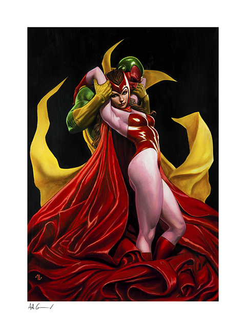 Sideshow Collectibles Scarlet Witch & Vision Art Print