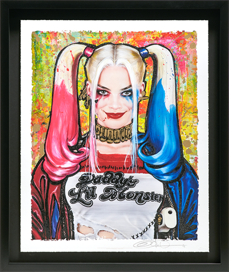 Daddy's Lil Monster Art Print - XL Deluxe Diamond Dust