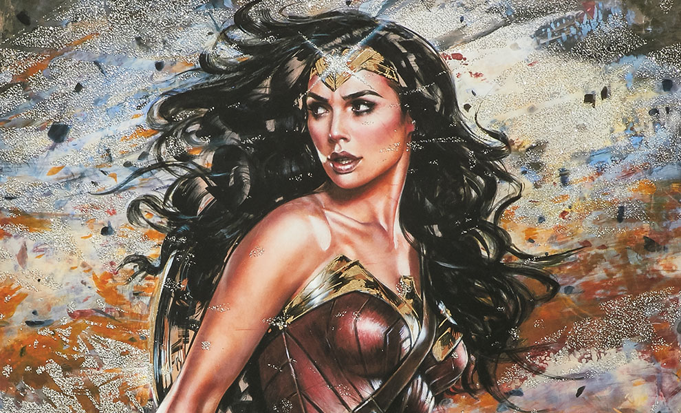 Gallery Feature Image of Wonder Woman: Amazon Warrior Art Print - Click to open image gallery