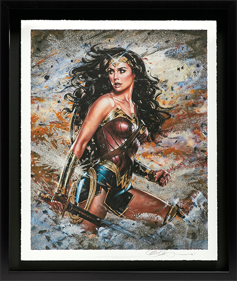 Ozone Productions Wonder Woman: Amazon Warrior Art Print