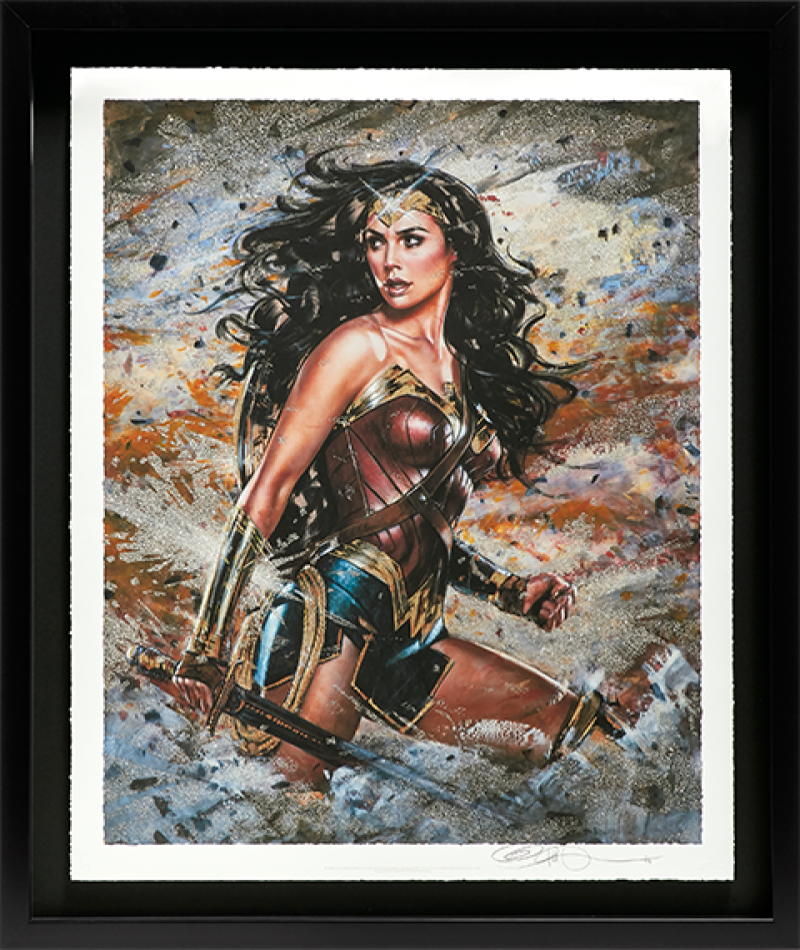 Wonder Woman: Amazon Warrior Art Print - XL Deluxe Diamond Dust