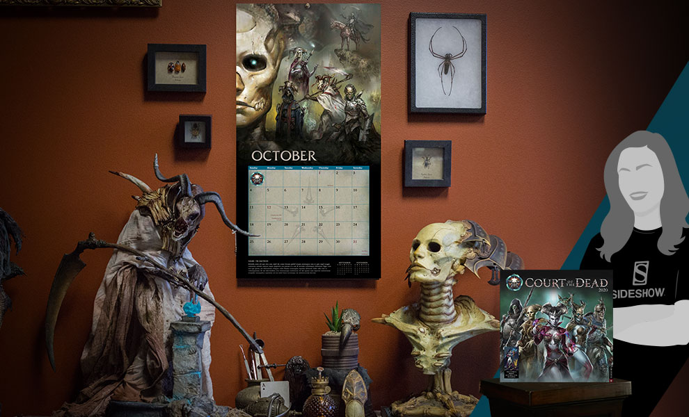 Gallery Feature Image of Court of the Dead 2020 Deluxe Wall Calendar Office Supplies - Click to open image gallery