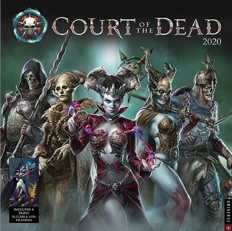 Universe Publishing Court of the Dead 2020 Deluxe Wall Calendar Office Supplies