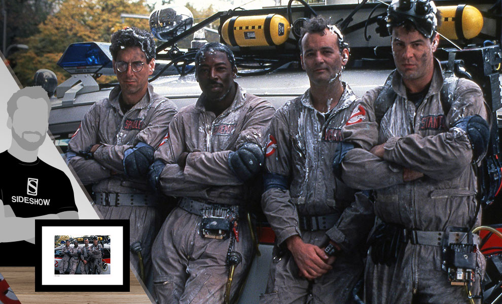 Gallery Feature Image of The Ghostbusters & Ecto-1 Art Print - Click to open image gallery