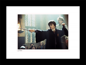 Harry Duels With Draco Art Print
