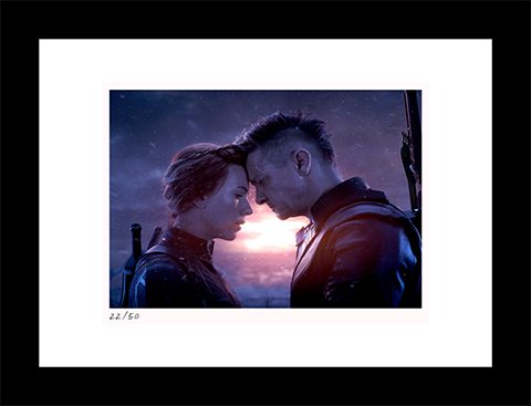 Classic Stills Natasha & Clint Say Goodbye Art Print
