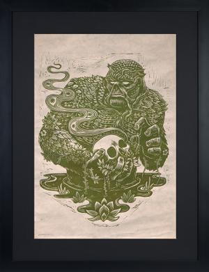 Swamp Thing Linocut on Lokta Paper Art Print
