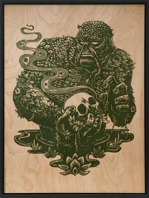Swamp Thing Print on Wood Variant Art Print