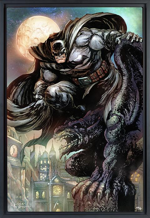 Sideshow Collectibles Batman™: The Dark Knight HD Aluminum Metal Variant Art Print