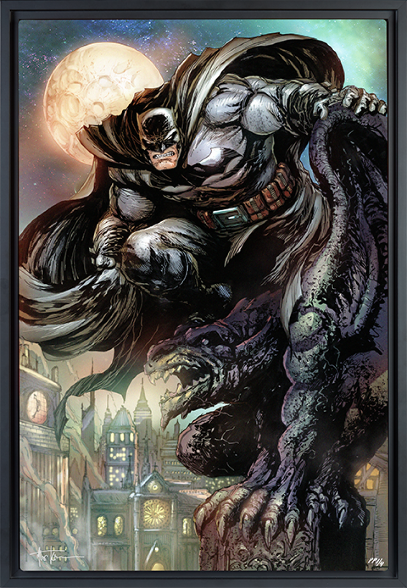 Batman: The Dark Knight HD Aluminum Metal Variant Art Print -