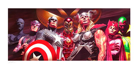 Alex Ross Art Assemble Art Print