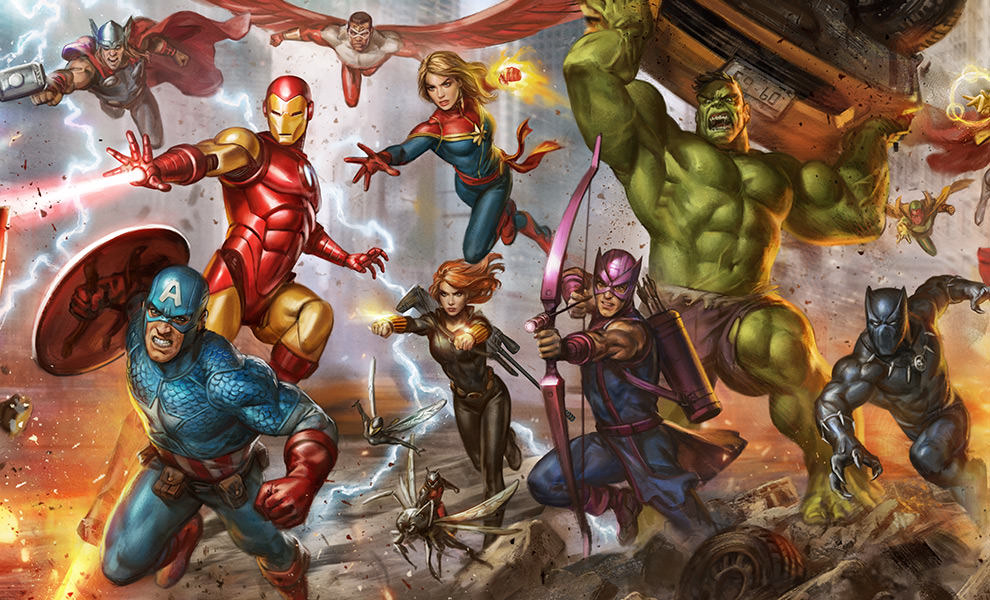 Gallery Feature Image of The Avengers: Earth's Mightiest Heroes Art Print - Click to open image gallery