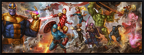Sideshow Collectibles The Avengers: Earth's Mightiest Heroes Art Print