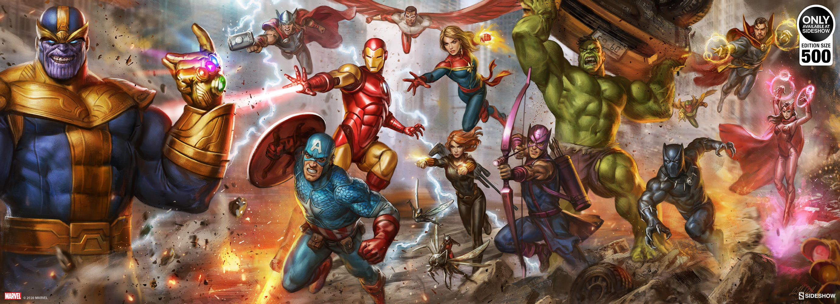 Marvel The Avengers Earth S Mightiest Heroes Fine Art Print