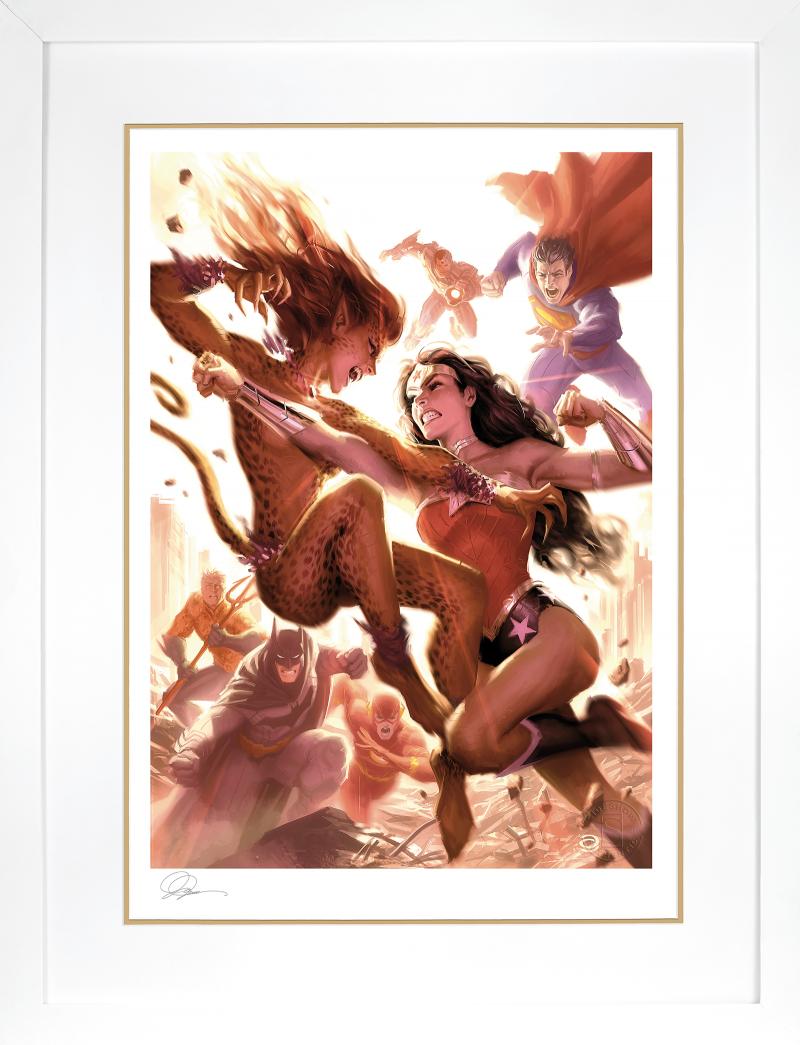 Justice League: Wonder Woman vs Cheetah Art Print -
