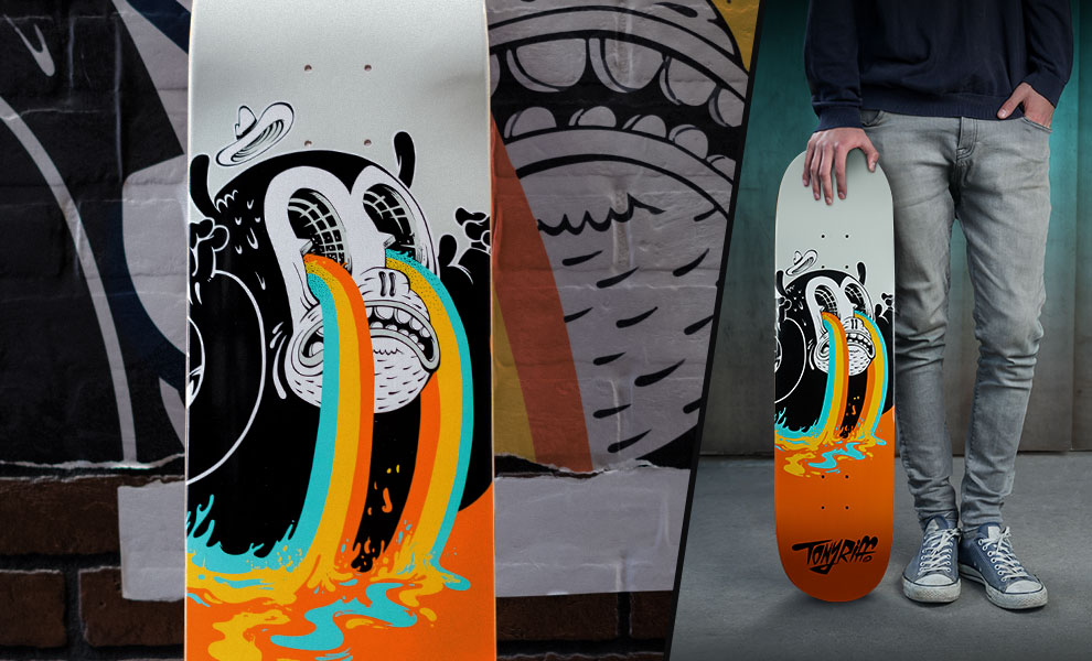 Gallery Feature Image of I See Colours Skateboard Deck - Click to open image gallery