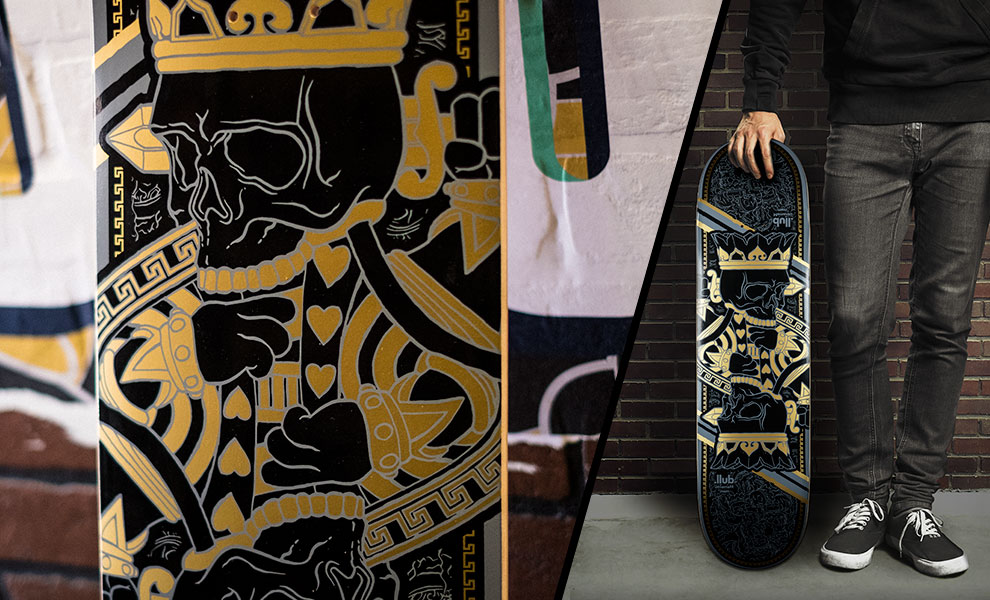 Gallery Feature Image of King Charles Skateboard Deck - Click to open image gallery