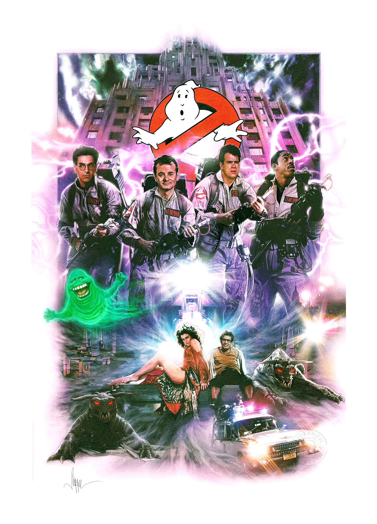 Sideshow Collectibles Ghostbusters Art Print