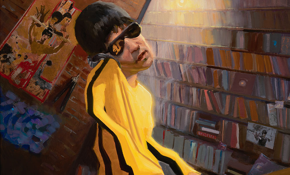 Gallery Feature Image of The DJ Bruce Lee Variant Art Print - Click to open image gallery