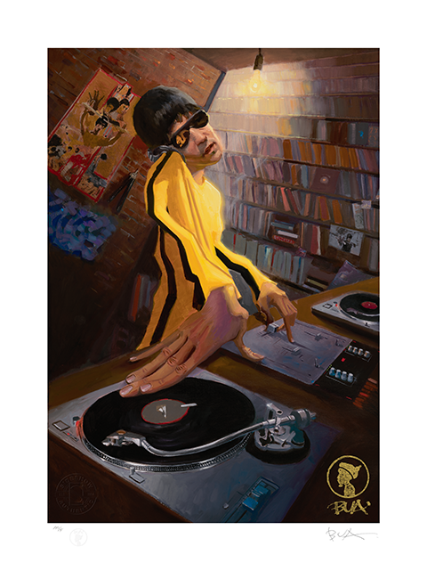 Sideshow Collectibles The DJ Bruce Lee Variant Art Print