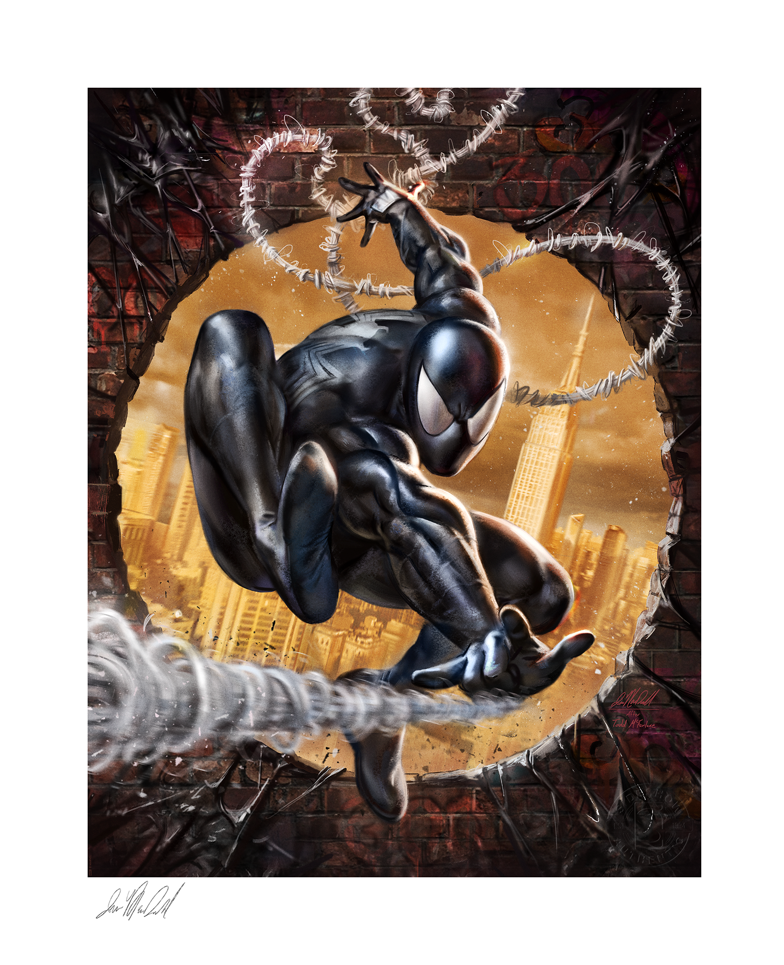 Sideshow Collectibles The Amazing Spider-Man: #300 Tribute Art Print