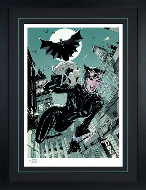 Sideshow Collectibles The Getaway: Batman & Catwoman Art Print