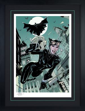 The Getaway: Batman & Catwoman Art Print