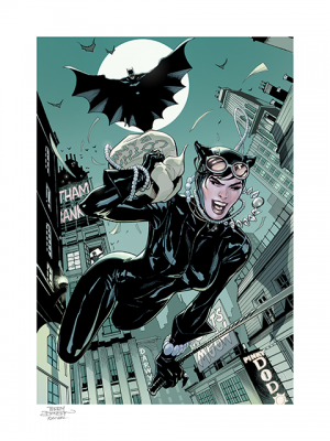 The Getaway: Batman & Catwoman Art Print