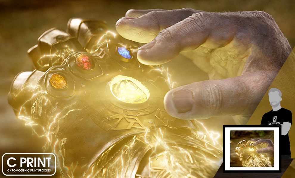 Gallery Feature Image of Completing the Infinity Gauntlet Art Print - Click to open image gallery