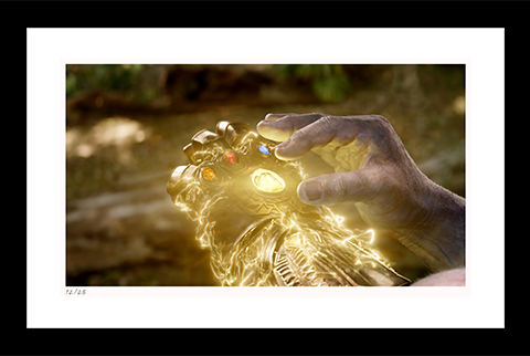 Classic Stills Completing the Infinity Gauntlet Art Print