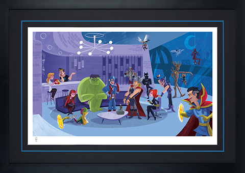 Sideshow Collectibles Party at Avengers Tower Art Print