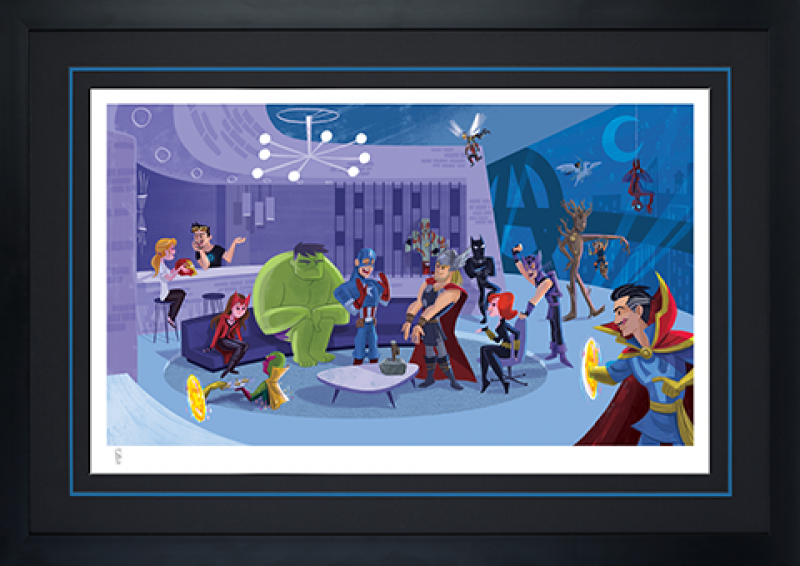 Party at Avengers Tower Art Print -