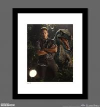 Gallery Image of Owen Grady & Blue Art Print
