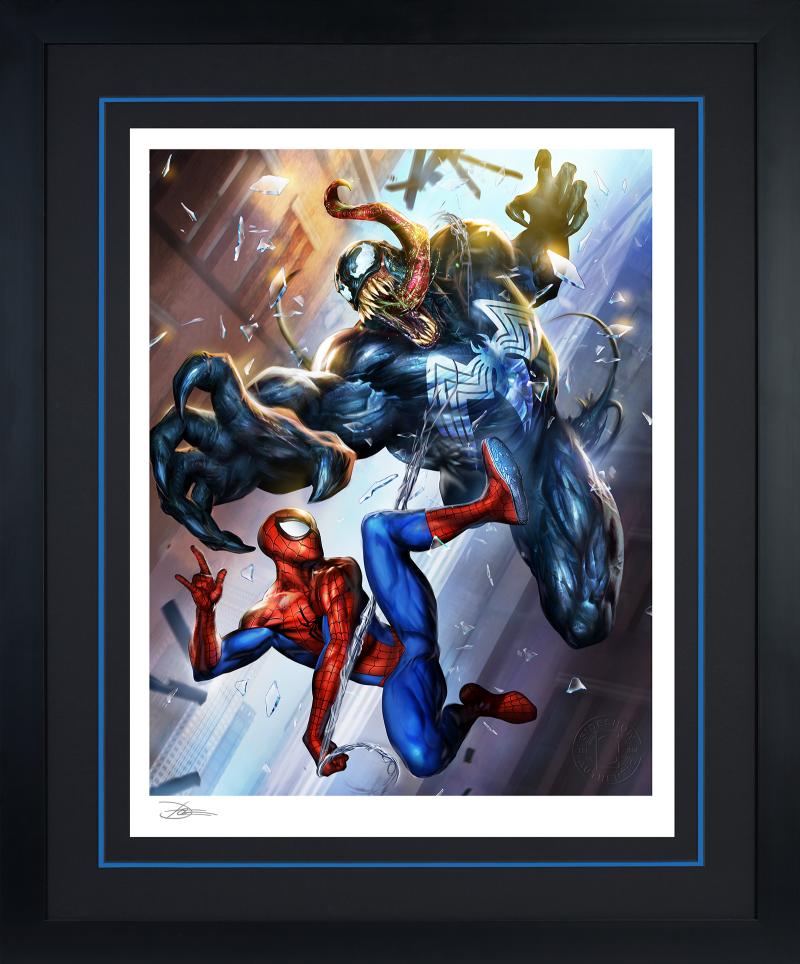 Spider-Man vs Venom Art Print -