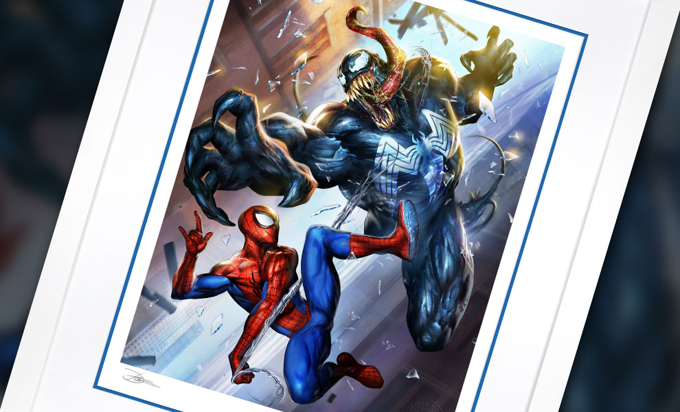 Gallery Feature Image of Spider-Man vs Venom Art Print - Click to open image gallery