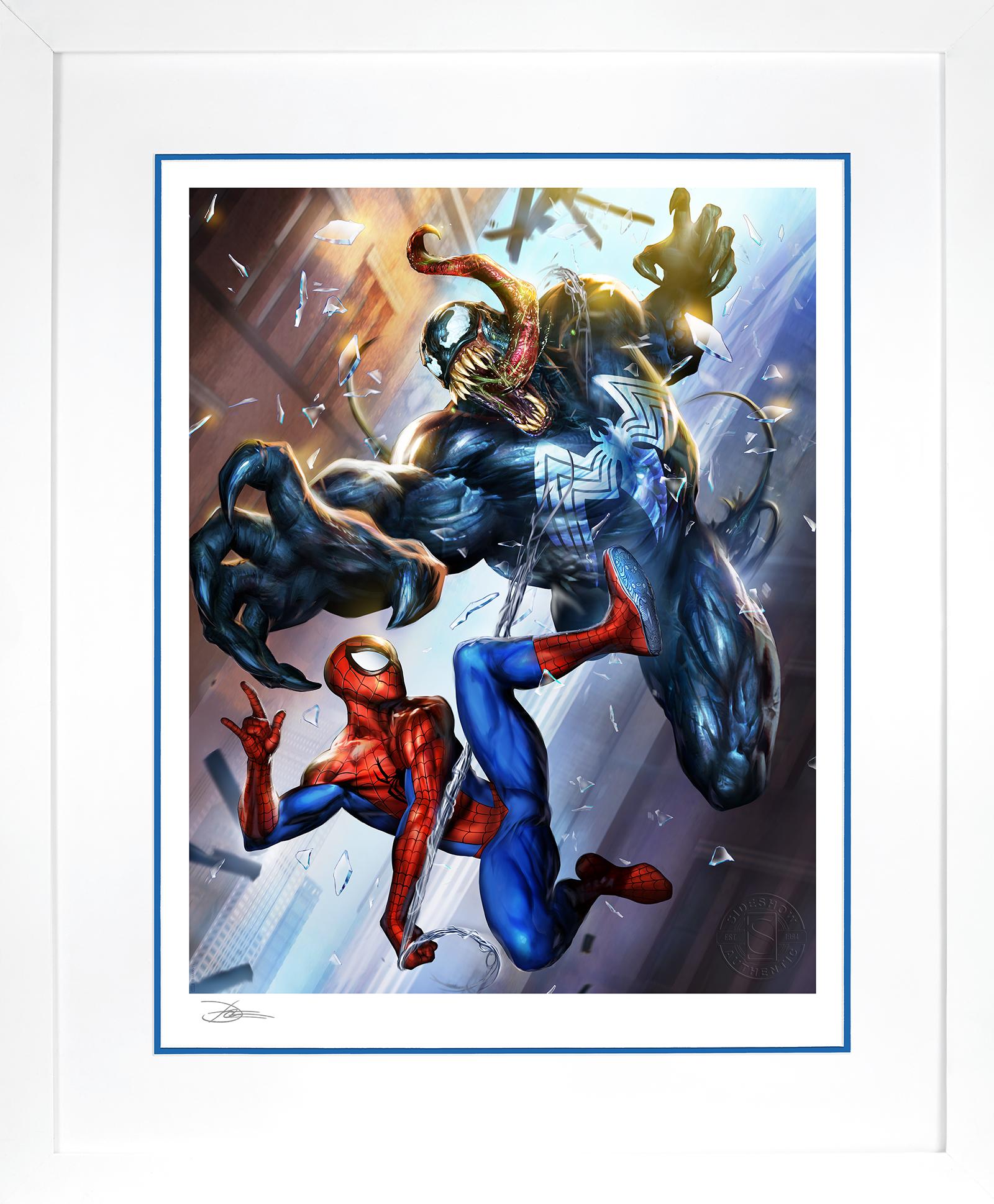 Sideshow Collectibles Spider-Man vs Venom Art Print