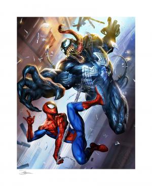 Spider-Man vs Venom Art Print