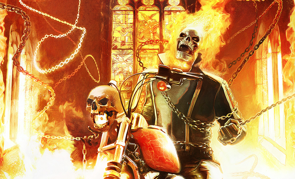 Gallery Feature Image of Ghost Rider Art Print - Click to open image gallery