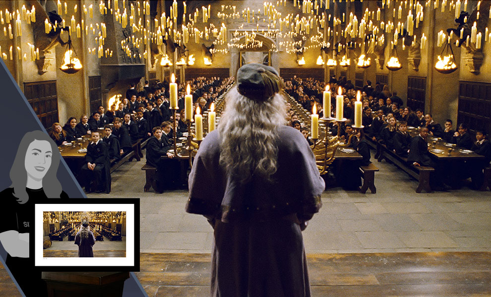 Gallery Feature Image of Dumbledore Addresses the Great Hall Art Print - Click to open image gallery