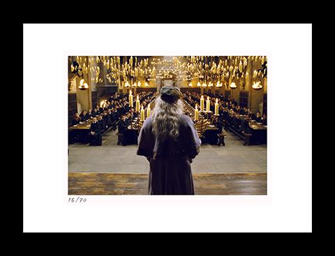 Classic Stills Dumbledore Addresses the Great Hall Art Print