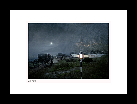Classic Stills Carriages Approach Hogwarts™ Art Print
