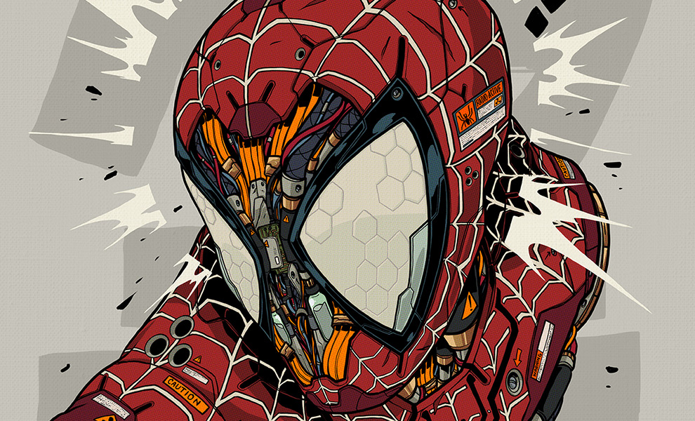 Gallery Feature Image of Spider-Man MECHASOUL Art Print - Click to open image gallery