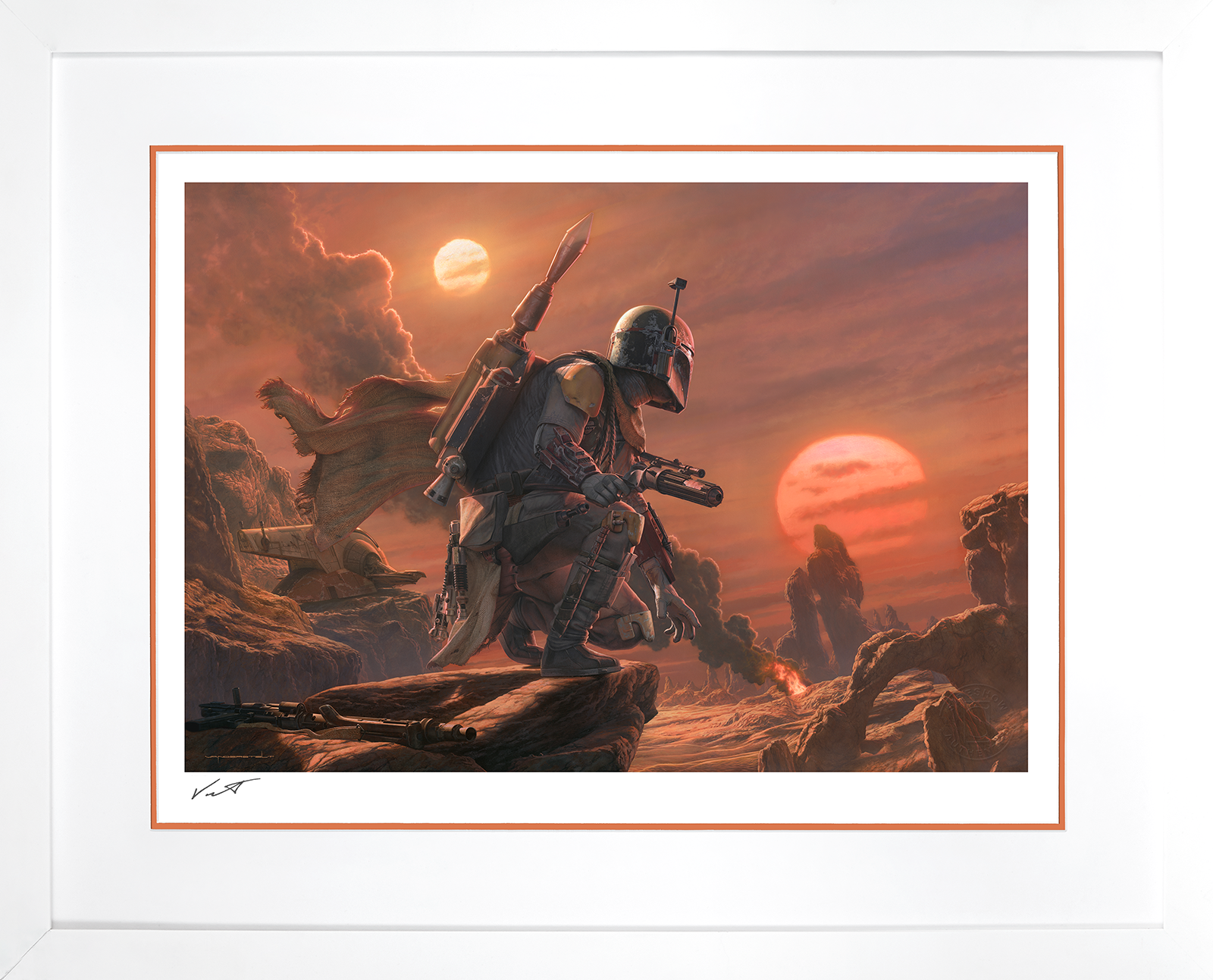 Sideshow Collectibles Boba Fett: Dead or Alive Art Print