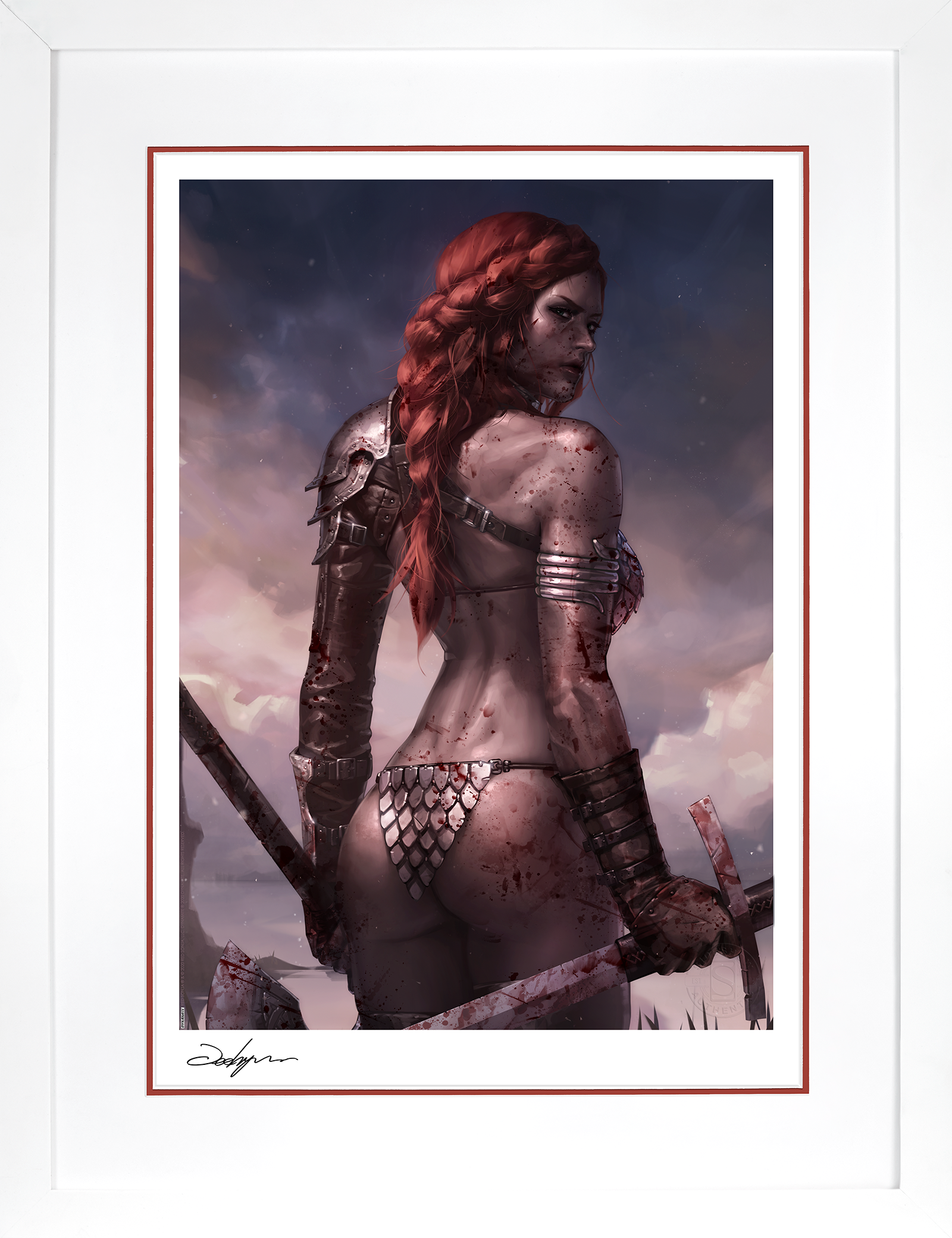 Sideshow Collectibles Red Sonja: Birth of the She-Devil (Post-Battle Bloody Variant) Art Print