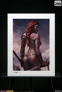 Gallery Image of Red Sonja: Birth of the She-Devil (Post-Battle Bloody Variant) Art Print