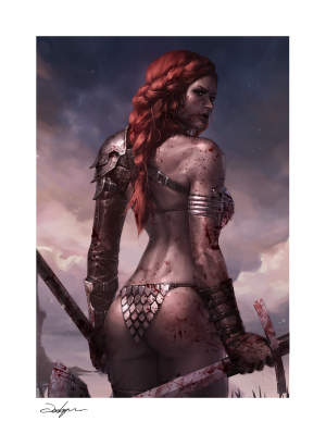Red Sonja: Birth of the She-Devil (Post-Battle Bloody Variant) Art Print